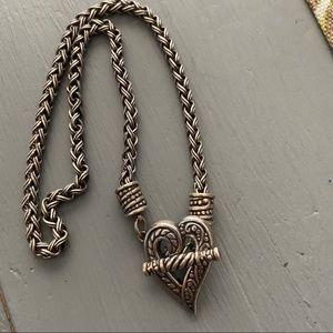Brighton Thick Chain Heart Toggle Necklace